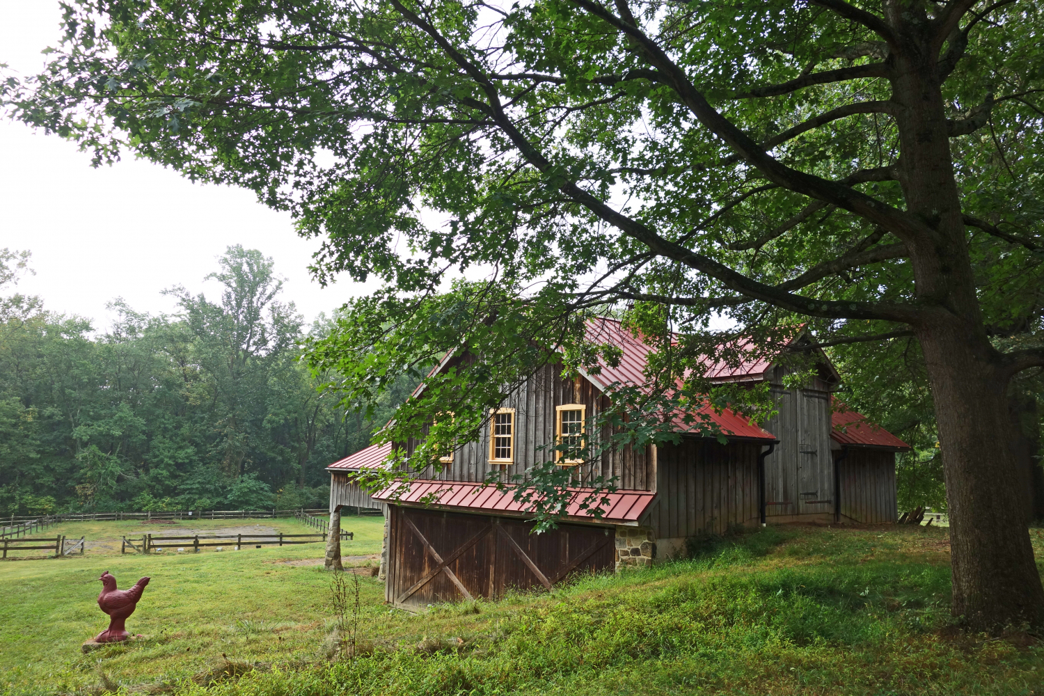 The barn at Rooster Run Farm.