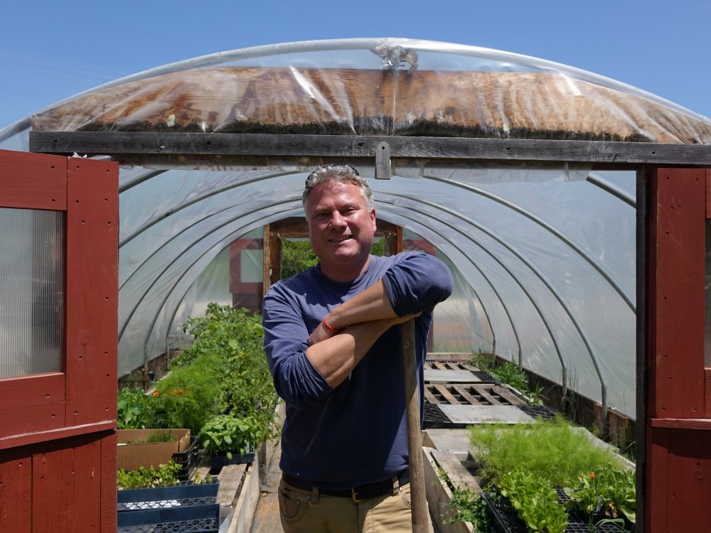 Fred de Long, the Trust's Director of Community Farm Program.