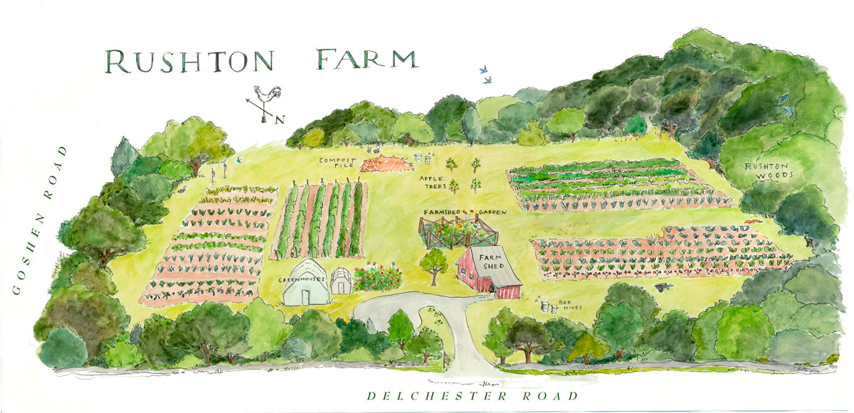 Rushton Farm Hand Drawn Map