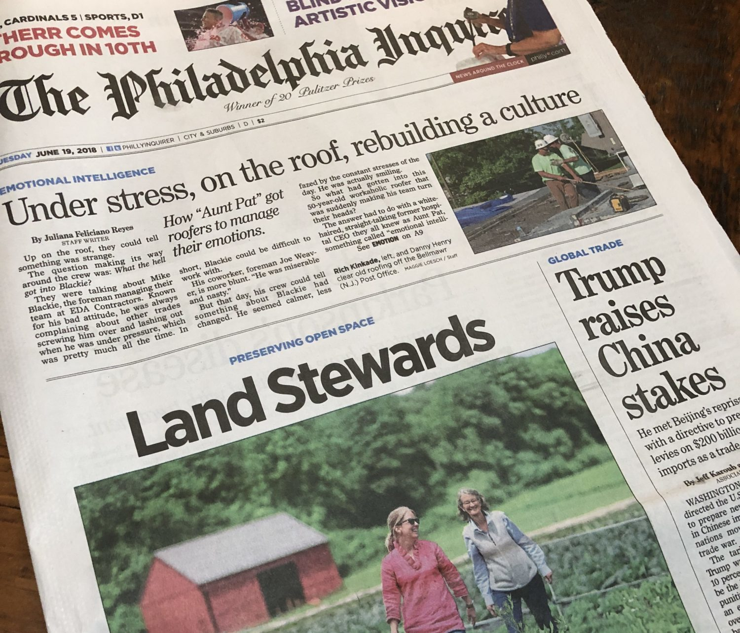 Willistown Conservation Trust featured on Front Page of Philadelphia Inquirer