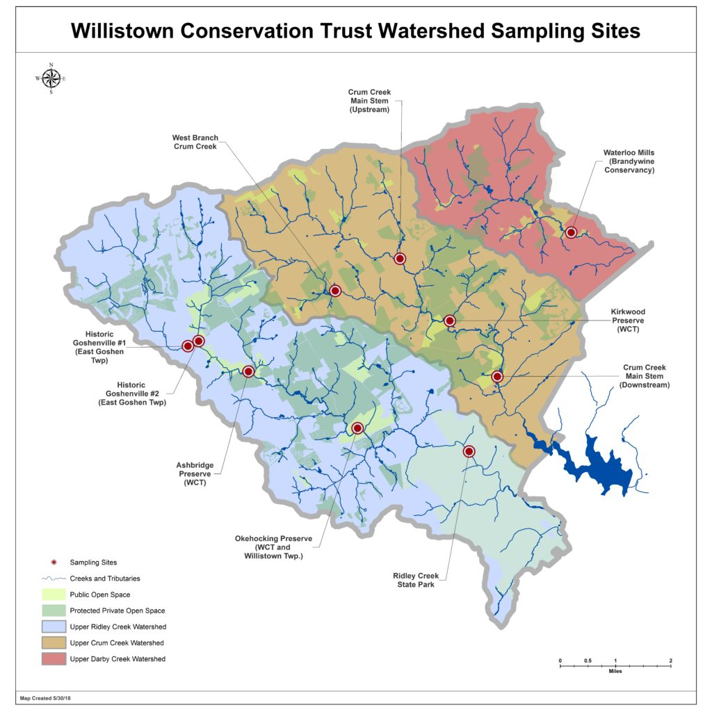 Watershed Sampling Points August 2018