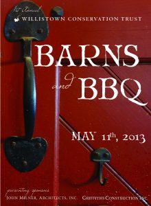 2013 Barns & BBQ Program Book - cover