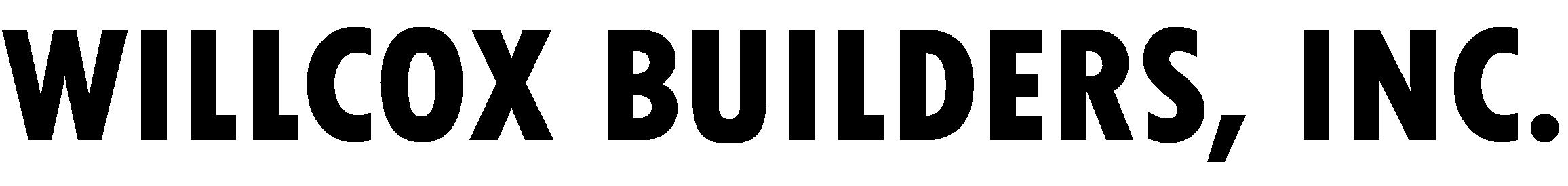 Willcox Builders, Inc Logo_Vector_B&W